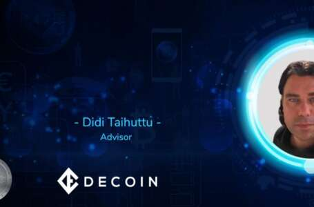 Top ICO Advisor, Didi Taihuttu, Becomes the Newest Member of Decoin – the First POS Profit-Sharing Cryptocurrency
