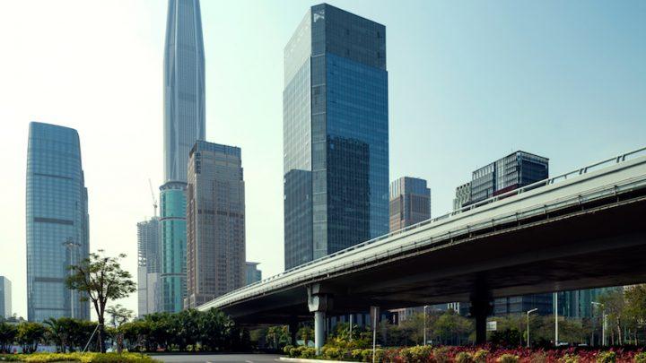 china road and city